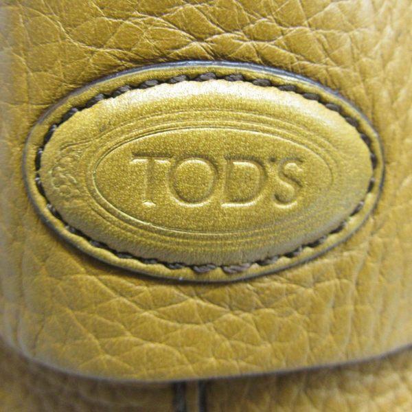 TOD S 鴕黃色牛皮手提肩背包 兩用包 【BRAND OFF】