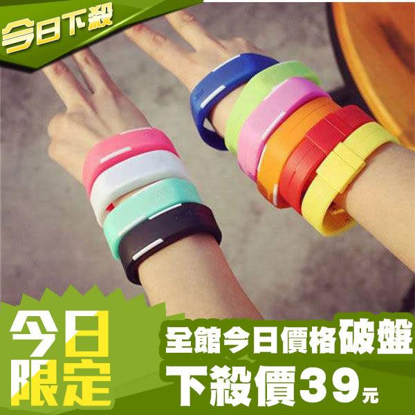 輕果凍色LED運動手環錶 手環 手錶 防潑水 韓版 潮流 女錶 男錶 兒童錶 糖果色 類 小米