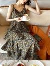 蛋糕裙 超仙過膝碎花吊帶蛋糕裙夏季2021新款森系收腰顯瘦長款仙女連身裙 寶貝 寶貝計畫 618狂歡