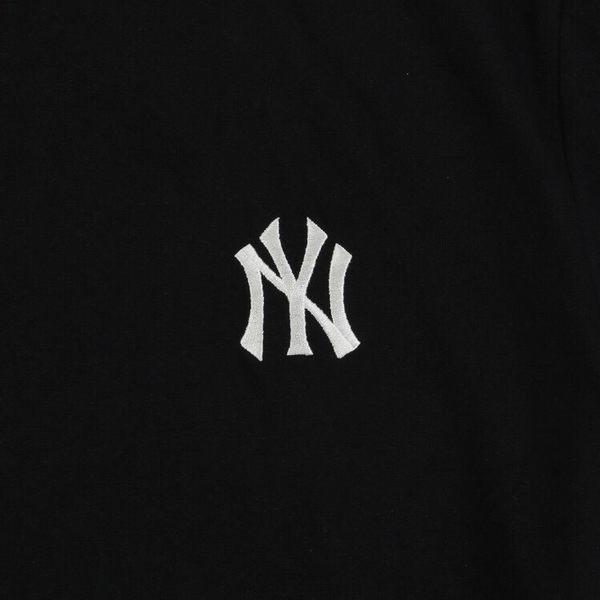 ISNEAKERS 洋基 MLB NY 經典大LOGO 紐約洋基 短袖 短T 黑色 刺繡 韓國官方版