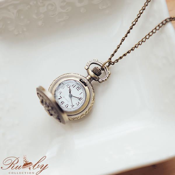 項鍊 鏤空蝴蝶花朵懷錶長項鍊-Ruby s 露比午茶
