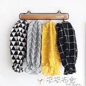 新春狂歡 棉麻北歐風繪畫成人防汙棉布韓版長款袖套清潔辦公家務女廚房套袖