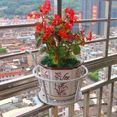 鐵藝陽臺掛式欄桿護欄花盆架懸掛多層室內綠蘿花架子