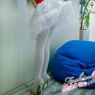 【B396-白色】一體成型開檔絲襪