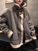 羊羔毛鹿皮絨棉衣襖外套冬季女百搭BF風保暖夾克上衣 星辰小鋪