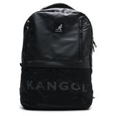 KANGOL 黑 白英文logo 雙肩後背包 電腦可放 後背包 素色 (布魯克林) 6025320720