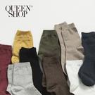 Queen Shop【07110342】坑條素色短襪 11色售*預購*
