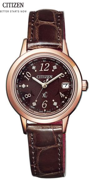 CITIZEN 星辰 xC 限量商品Stage Light萬年曆電波錶(EC1147-01X)-咖啡色28mm