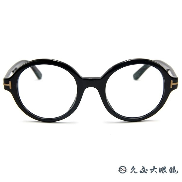 TOM FORD 眼鏡 TF199 (黑) 復古圓框 近視眼鏡 久必大眼鏡