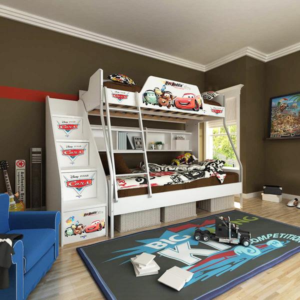 [首雅傢俬] MIT 迪士尼 單人 上下舖 麥坤 高低床 雙層床 兒童床 書櫃床 上下床