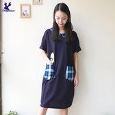American Bluedeer-格子口袋洋裝(魅力價) 春夏新款
