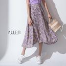 現貨◆PUFII-中長裙 後鬆緊水彩碎花...