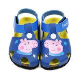 童鞋 粉紅豬小弟喬治 Peppa Pig.英國佩佩豬氣墊護趾涼鞋 藍14-18號~EMMA商城