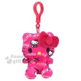 〔小禮堂〕Hello Kitty 絨毛玩偶娃娃吊飾《桃.滿版》玩具.掛飾 0840805-13115