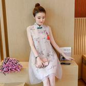 旗袍 女裝民族風連身裙中國風旗袍改良唐裝中式寬鬆長裙子 潮先生