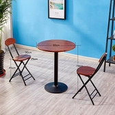 洽談桌簡約小圓桌現代休閒圓餐桌咖啡桌飯桌圓形台洽談桌子陽台奶茶桌椅 【免運】