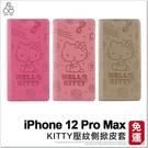 iPhone 12 Pro Max Kitty經典壓紋手機皮套 手機殼 凱蒂貓 支架 皮套 保護殼 防摔殼
