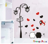 壁貼【橘果設計】黑白豬 DIY組合壁貼/牆貼/壁紙/客廳臥室浴室幼稚園室內設計裝潢