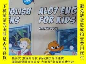 二手書博民逛書店ALO7罕見ENGLISH FOR TEENS 5A+ALO7 ENGLISH FOR KIDS 5A(1本書+1