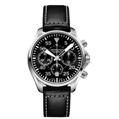 HAMILTON 漢米爾頓Khaki卡其飛行員計時皮帶機械腕錶/H64666735