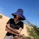網紅漁夫帽遮陽女夏大帽檐防曬紫外線韓版百搭大沿日系太陽帽子潮一米陽光