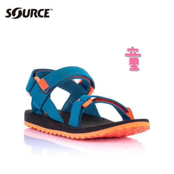 SOURCE 兒童URBAN織帯涼鞋101093OS【海洋藍】 / 城市綠洲(織帶、輕量、快乾、抑菌)