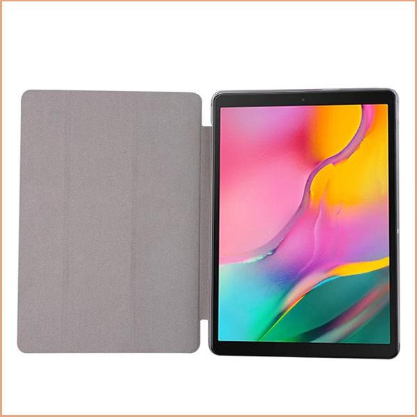 Samsung Galaxy Tab A 10.5 2019 T510 平板皮套 超薄 蠶絲紋 三星 T515 保護殼 三折 支架 透明後蓋 保護套