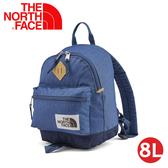 【The North Face 8L 背提包《蔭藍》】3G9C/雙肩後背包/休閒背包/兒童背包/學生書包