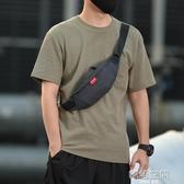 男士手機腰包多功能包潮流帆布單肩包斜背包小型輕便運動挎包胸包
