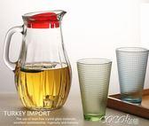 冷水壺 透明玻璃水壺家用大容量涼水壺果汁壺扎壺套裝  coco衣巷