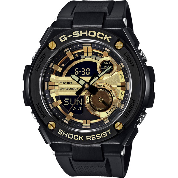 CASIO G-SHOCK系列 破繭重生雙顯運動錶-GST-210B-1A9DR