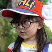 現貨-阿拉蕾哈利波特兒童潮款正圓形眼鏡框架裝飾鏡熱賣萌親子款活動表演拍照道具 圓形無片鏡