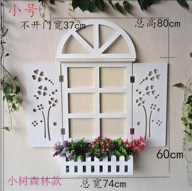 特價家居地中海風格掛飾歐式百葉假窗戶壁挂件田園牆面牆上裝飾品