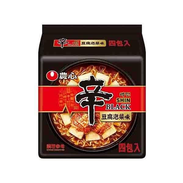 韓國 農心 頂級辛拉麵(豆腐泡菜味)4入(整袋裝)【小三美日】泡麵 / 進口 / 團購