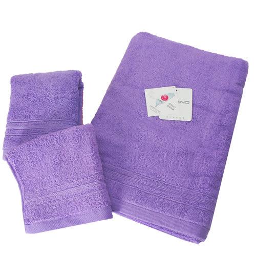 【MORINO】飯店級素色緞條毛巾(3件組)