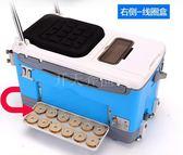 618大促釣箱多功能超輕加厚釣魚箱臺釣箱漁具3色