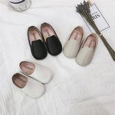 女童單鞋韓版兒童百搭套腳小皮鞋奶奶鞋子