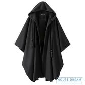 斗篷外套女 不規則設計感外套2020秋冬連帽長款斗篷式大衣女 HD