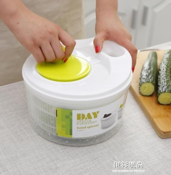 家用手動甩菜器沙拉蔬菜甩水機油炸脫水洗菜機 伊衫風尚ATF