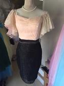 (45 Design) 現做 雙色禮服洋裝  定做顏色  短款公主小禮服 婚禮伴娘 模特 走秀