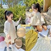 Amybaby新款女童春裝碎花洋裝2021新款韓版洋氣寶寶可愛洋裝 幸福第一站