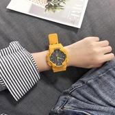 原宿風手錶男女學生韓版簡約潮流ulzzang運動休閒大氣防水電子錶 衣櫥秘密