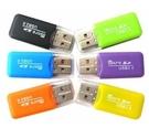 糖果色USB讀卡機TF卡/MICROSD...