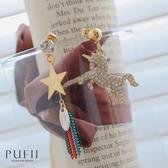 現貨◆PUFII-耳環 正韓流蘇獨角獸耳環-0226 春【CP18036】