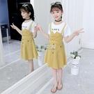 女童洋裝夏季中大童新款假兩件長裙背帶公主裙小女孩裙子韓 夏沫之戀