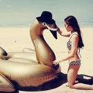游泳圈充氣-超大成人天鵝造型水上活動坐騎浮板2色73ez2【時尚巴黎】