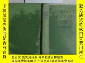 二手書博民逛書店1928年英文原版《CORRECT罕見ENGLISH》文泉老版書