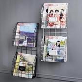 簡約鐵藝壁掛式雜志架書報架報刊收納架報刊架書架展示架置物架JD CY潮流