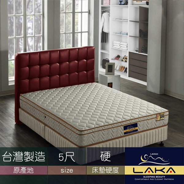 【LAKA】三線3M防潑水冬夏二用彈簧床墊(Good night系列)雙人5尺