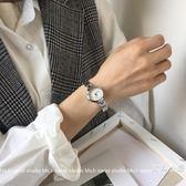 手錶女小巧網紅學生簡約韓版百搭復古錬條小表盤手錬表